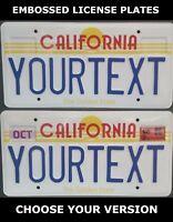 Retro Vintage California Golden State US USA License Plate Custom Date Sticker