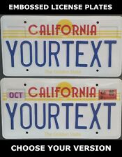 Retro Vintage California Golden State US USA License Plate Custom Date Sticker