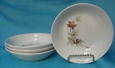 Vintage SALEM MAPLE LEAF China Set of 4 Soup /Cereal Bowls