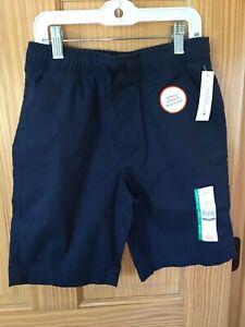 New Wonder Nation Boy Pull on Shorts Navy Blue woven School Uniform Approved
