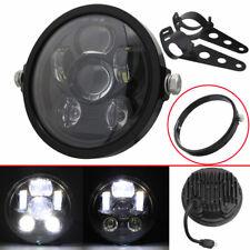 "Full Set Motorcycle 7"" LED Lamp Headlight Cover Mount Ring & Brackets For Dyna"