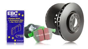 EBC Front Brake Discs & Greenstuff Pad for Fiat Bravo 1.2 (180mm Drums) (98>02)