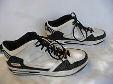 FUBU Mens Athletic High Top Sneakers Shoes Size 11 White Black Gray Laces Xlnt