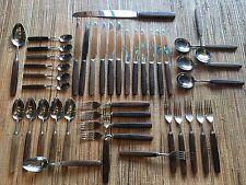 Mid Century Modern Thomas Sons Cork Rosewood Flatware Set 41 pc Sheffield