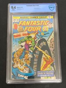 FANTASTIC FOUR #167, (1976), Marvel Comics, CBCS 9.4, White Pages, HULK Appears