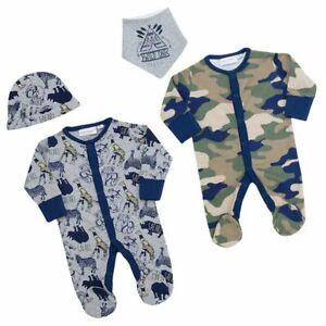 Baby Town Novelty Safari Baby Grow/ Sleep Suit/ Camouflage/ Newborn to 9 Month