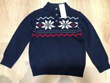 New Gymboree Button Neck Sweater Navy Blue Size :4