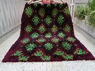 Moroccan Handmade Vintage Beni Ourain Rug Azilal Berber Wool Carpet Rug
