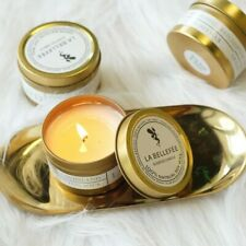 Highly Scented Handmade Soy Wax Large Candles Luxury Gold Tin Decorative Gift UK