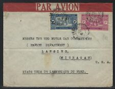 1931 Senegal Commercial Air Mail Cover to the REO Motor Car Co. in Michigan