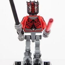 Star Wars Darth Maul double-bladed lightsaber Mini Figure Superhero Custom Lego
