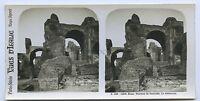 Roma Thermes Da Caracalla Italia Stereo Analogica Vintage Ca 1905