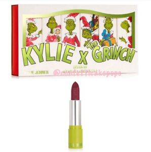 NEW Kylie Cosmetics x The Grinch SINGLE Lipstick I HATE CHRISTMAS 2020 Matte