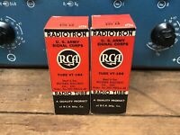 one pair (2) RCA 1619/VT164,NOS 100% milspec tubes, substitute for 45 and 6L6