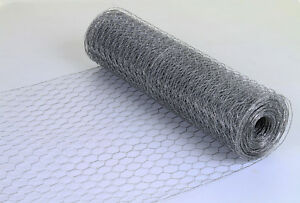 Wire Mesh Galvanised Fencing Chicken Netting Rabbit Fence Pet Garden 13mm/25mm