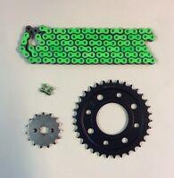 RK Green Heavy Duty 428 Drive Chain JT Sprocket Upgrade Kit Honda MSX125 Grom