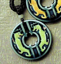 Porcelain Necklace Chinese Tiger