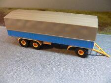 1/87 Brekina 3-achs Anhänger Im Auftrag der DB blau Chassis gelb