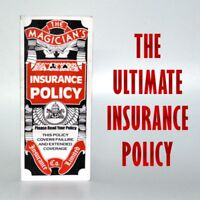 Magician's Insurance Policy Classical Stage Street Pocket Real Cards Magic Trick