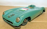 Vintage Bandai made in Japan Ferrari 813 Green Tin Car #3 Italian Flag