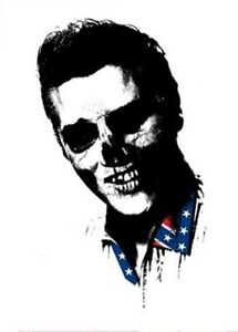 """Paul Insect """"Dead Rebels"""" Elvis Presley Signed from POW (PINS, Banksy)"""