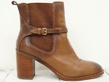 ZARA ♫ Damen Stiefeletten Gr. 38 Echtleder Braun Boots Shoes Schuhe