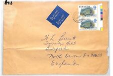 BT13 1979 Bermuda $1 Blue Angelfish TRAFFIC LIGHT PAIR Commercial Air Mail Cover