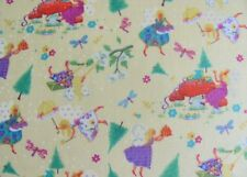 Fairy Christmas Decorating Trees Gifts Dragonflies on Cotton Fabric By The Yard