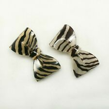 Zebra Animal PRINT Ribbon Bow Cabochon for pony tail holder hair accessories #08