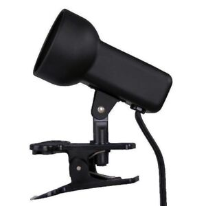 2-1/2 Inch Black Portable Clip-On Lamp, Great For Headboards & Kitchen Counters