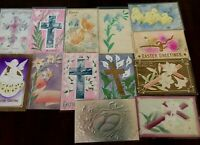 Lot of 13 Antique ~AIRBRUSHED~Embossed  Vintage~EASTER~Postcards-p935