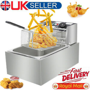 10L Electric Deep Fat Fryer 2500W Fry Chip Tank Basket Stainless Steel UK Plug