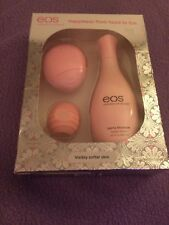 eos Berry Blossom Hand Lotion, Body Lotion & Visibly Soft Coconut Milk Lip Balm