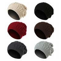 Warm Twist Design Slouch Beanie Cap Skateboard Hat Skull Caps Warm Knitted Hat
