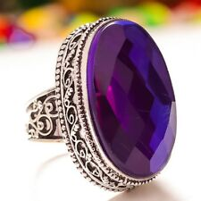 Handmade Rainbow Mystical Fire Topaz 925 Sterling Silver Ring Size: 8 #R00051