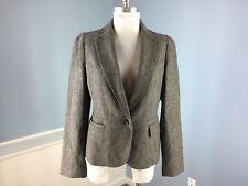 Talbots M 10 Gray Wool Blend Peplum Blazer jacket Excellent Career casual
