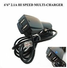* HIGH SPEED 2USB POWER CORD FOR ESCORT, BELTRONICS, V1, UNIDEN RADAR DETECTOR *