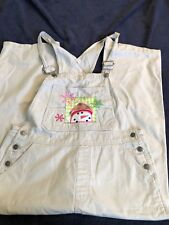Cherokee Overalls with Snowman on Front Medium Tan Used