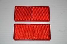 2 x RED Self Adhesive Stick On Rear Reflectors 94mm x 44mm - Trailers, caravan