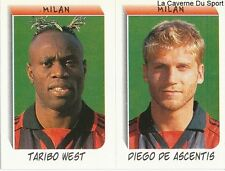 WEST NIGERIA DE ASCENTIS AC.MILAN RARE UPDATE STICKER CALCIATORI 2000 PANINI