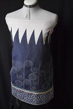 KENZO.Magnifique panneau brocart jupe ou bustier.gris blanc,gris,taupe,bleu,vert