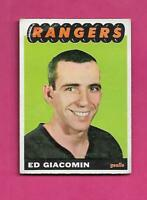 1965-66 TOPPS # 21 RANGERS ED GIACOMIN ROOKIE GOOD  CARD (INV# X0001)