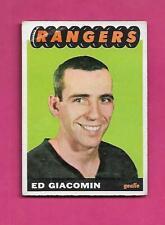 1965-66 TOPPS # 21 RANGERS ED GIACOMIN ROOKIE GOOD  CARD (INV# X0001)