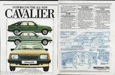 1981 VAUXHALL CAVALIER 2-page advertisement, British advert, Cavalier GLS