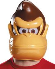 Donkey Kong Mask Adult Headpiece PVC Character Costume Gorilla DK Nintendo