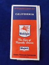 CALIFORNIA MOBIL MAP MOBILGAS GENERAL PETROLEUM CORPORATION ADVERTISING