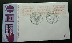 [SJ] Israel ATM 1988 (Frama Label stamp FDC) *see scan