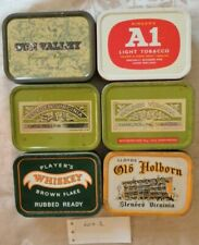 Vintage Tobacco tins x 6 A1 Golden Virginia Sun Valley Old Holborn Players