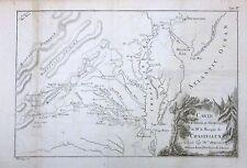 1786 Scarce Chastellux Revolutionary War Era Map of the Chesapeake Bay -ORIGINAL