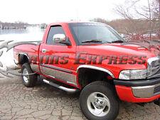 "1998-2001 Dodge Ram Regular Cab Long Bed Rocker Panel Trim 8.5"" Stainless Steel"